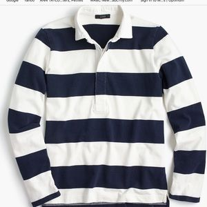 J Crew Women's rugby shirt in stripe. Size Large